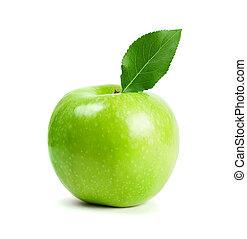 foglia verde, mela, frutte