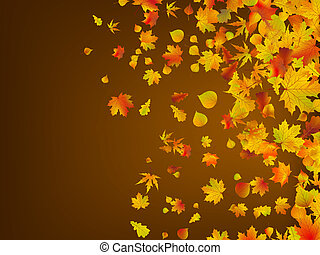 foglie, eps, autunno, fondo., 8, caduto