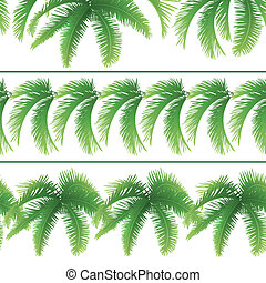 foglie, palma, seamless, modelli