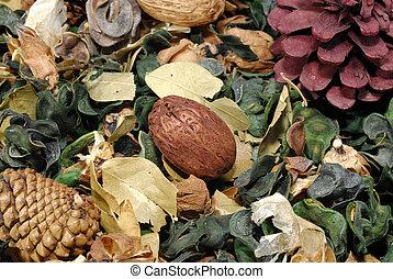 foglie, -, potpourri, secco