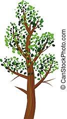 foglie, vettore, albero, icona