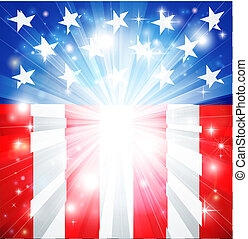 fondo, americano, patriottico, bandiera