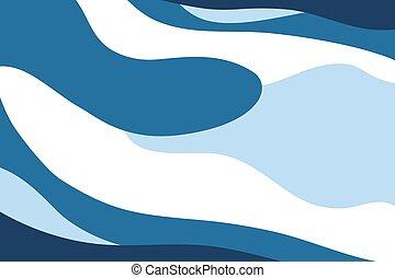 fondo., astratto, curva, blu