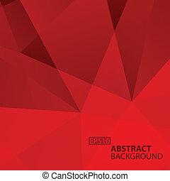 fondo., astratto, geometrico, rosso