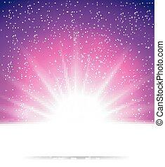 fondo, astratto, magia, luce