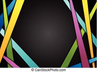 fondo, astratto, nero, zebrato, colorito
