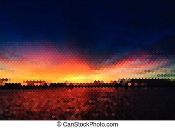 fondo, astratto, tramonto, scena, colorito