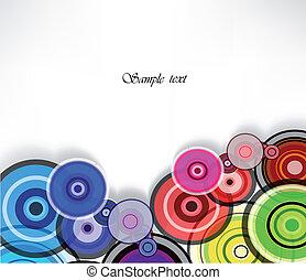 fondo., astratto, vettore, anello, colorito