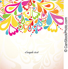 fondo., astratto, vettore, colorito, illustrazione