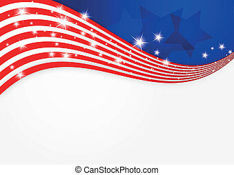 fondo, bandiera americana