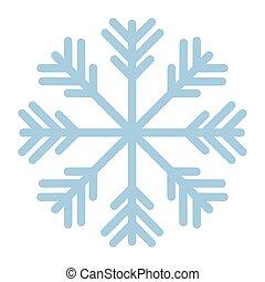 fondo, bianco, colorare, fiocco di neve, blu