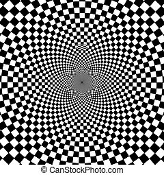 fondo., bianco, nero, ipnotico