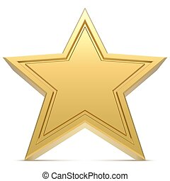 fondo., bianco, stella, isolato, five-point