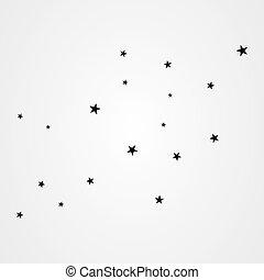 fondo, bianco, stelle