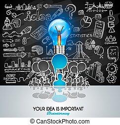 fondo, brainstorming, infographic, disposizione, concetto