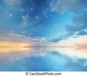 fondo., cielo, nature., composizione