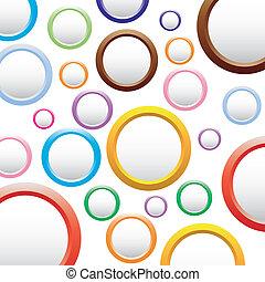 fondo, colorito, circles., astratto