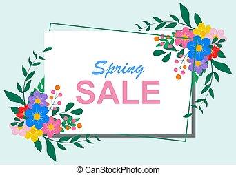 fondo., colorito, fondo, vector., primavera, flower., bello, bandiera, astratto, vendita