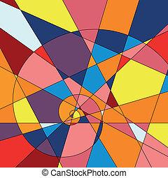 fondo., colorito, mosaico, luminoso
