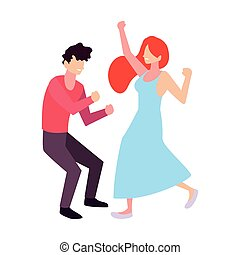 fondo, coppia, bianco, persone, ballo