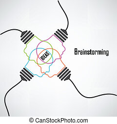 fondo, creativo, bulbo, luce, idea, concetto