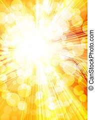 fondo, dorato, sole, luminoso