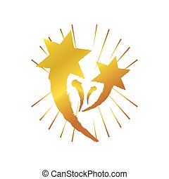fondo, esplosione, dorato, celebrazione, stelle, bianco