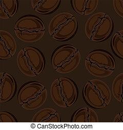 fondo., fagioli caffè, seamless