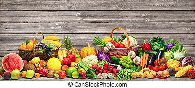 fondo, frutte, verdura