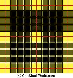 fondo, gabbia, scozzese