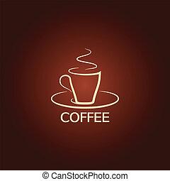 fondo, icona, tazza, disegno, caffè