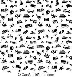fondo, icone, seamless, trasporto, carta da parati