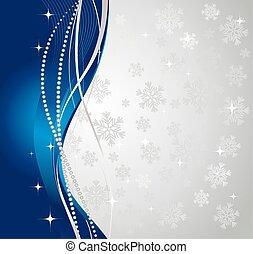 fondo., inverno, argento, astratto