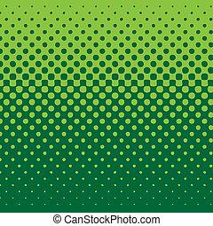 fondo, lineare, halftone, tono verde
