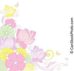 fondo, loto, floreale