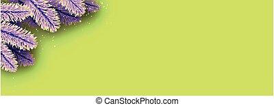 fondo., luce, giallo, abete rosso, viola, punte, verde, rami