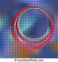fondo, mosaico, quadrato, vettore, pixel, astratto
