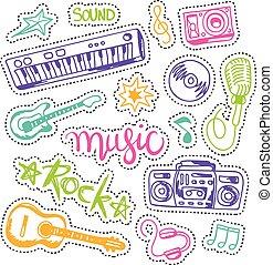 fondo., musica, colorito