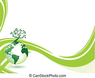 fondo, natura, verde