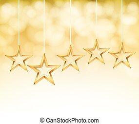 fondo, oro, astratto, vettore, stelle, ropes.