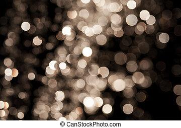 fondo, oro, festivo, elegante, luci, astratto, fondo., bokeh, defocused, stelle, natale