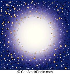 fondo, oro, pendenza, (purple), stelle, viola