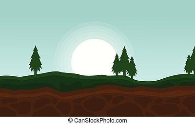 fondo, paesaggio, bellezza, collina