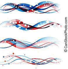 fondo, patriottico, giorno indipendenza, americano