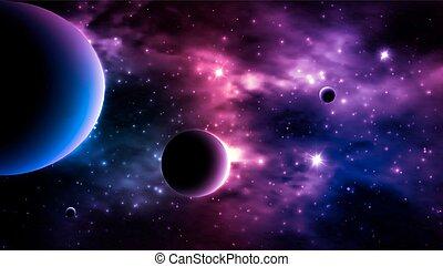 fondo., photorealistic, vettore, galassia