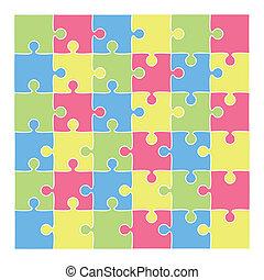 fondo, puzzle, vettore