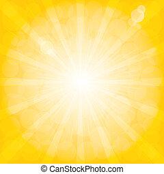 fondo., radiale, pattern., sunburst