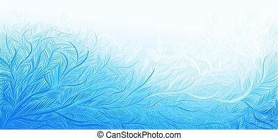fondo., riccio, vettore, ghiaccio, gelo, natale, illustrazione, inverno, blu