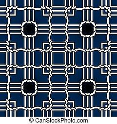 fondo., seamless, astratto, tartan, plaid, decorazione, elegante, annodato, intricato, ornaments., celtico, sfondo., ripetere, nodi, simmetrico, geometrico, carte parati, moderno, stampe, tessuto, design., vettore, pattern.