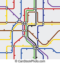 fondo, seamless, metro